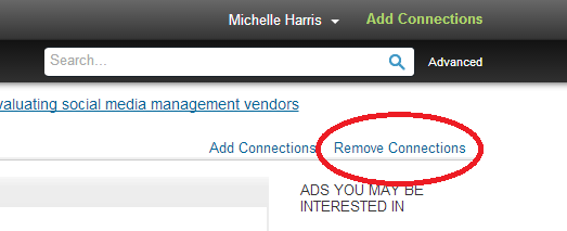 linkedin remove connections