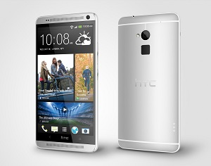 HTC One max Glacial Silver