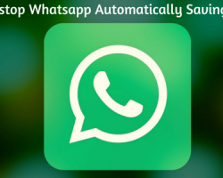 How to stop Whatsapp Automatically Saving Photos